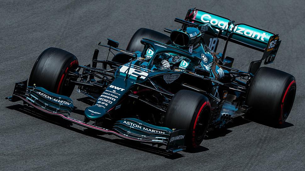 Лэнс Стролл и Себастьян Феттель выступили на Гран-при Португалии